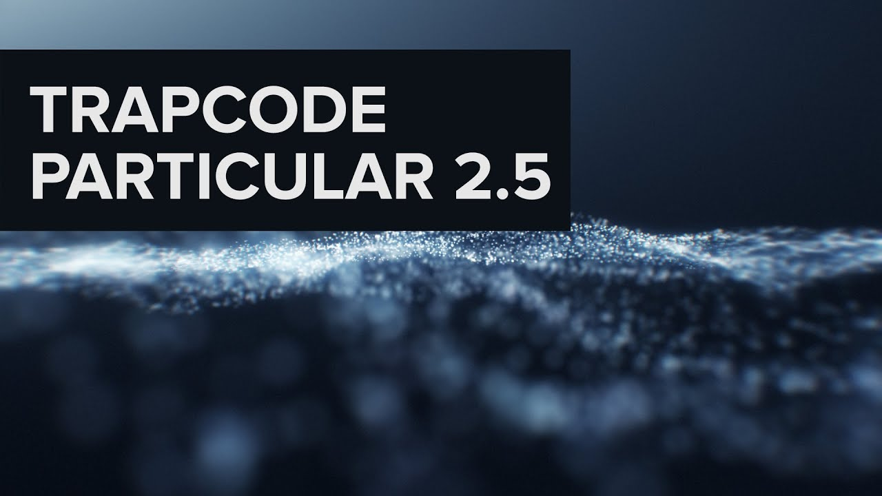 how to use trapcode particular in after effects