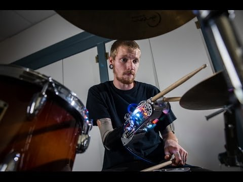 Robotic Prosthesis Gives Amputee Drummers A Third Hand