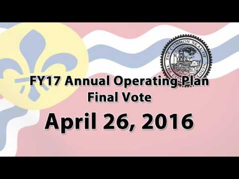 Board of Estimate & Apportionment   FY17 Operating Plan Vote   April 26, 2016