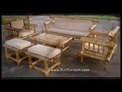 Bamboo Furniture From Bali Youtube