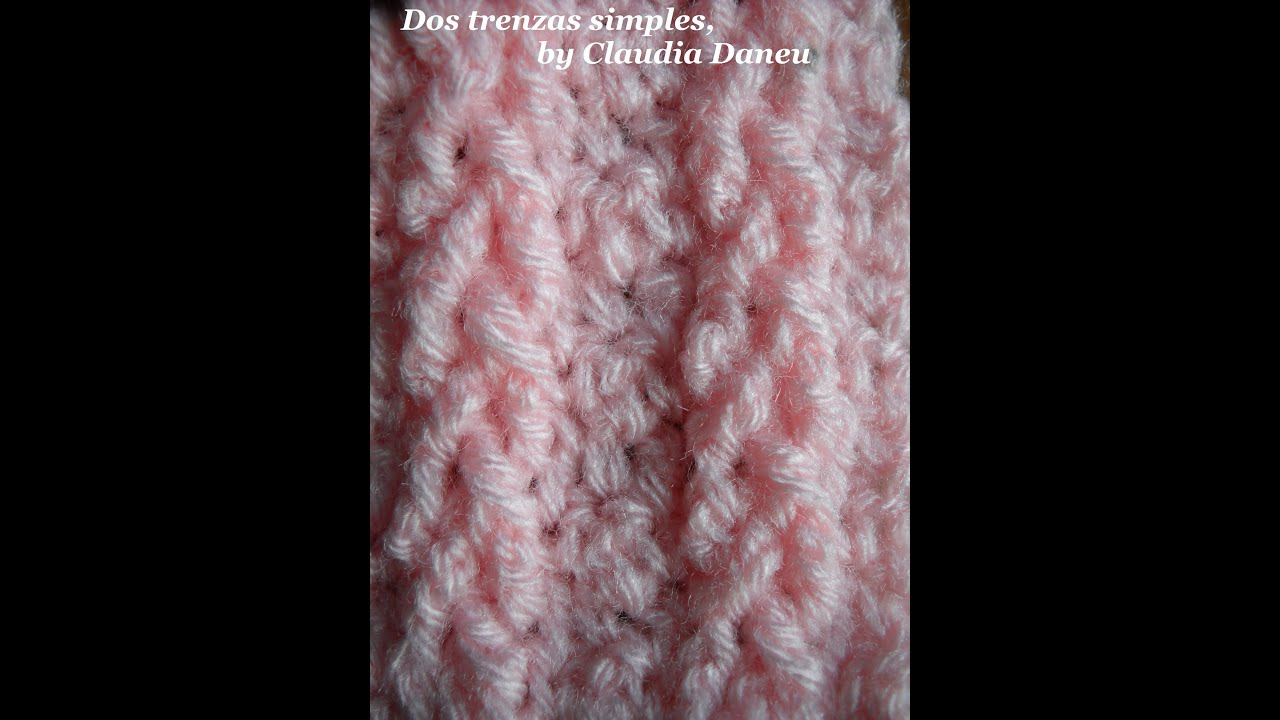 Crochet Stitches Youtube Channel : ... crocheted cable stitches / Ochos y trenzas al crochet - YouTube