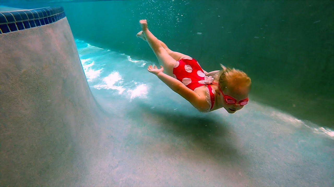 Elizabeth Explores The Bottom Of The Pool Youtube