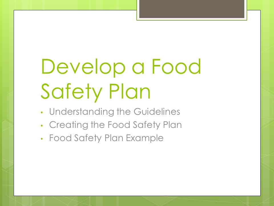 Develop a Food Safety Plan - YouTube