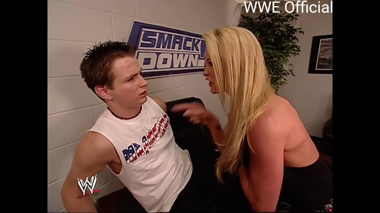 Download Brock lesnar's wife and Vince McMahon at Backstage,June-19-2003