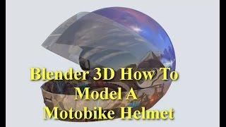 Blender 3D Motobike Helmet