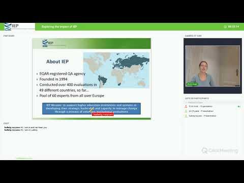 EUA webinar: Exploring the impact of IEP