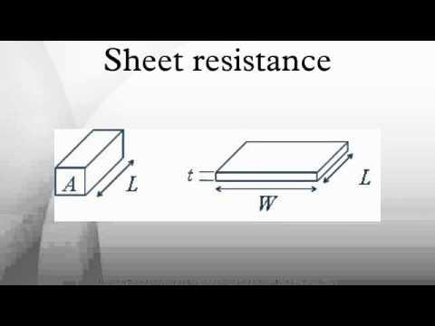 Sheet resistance