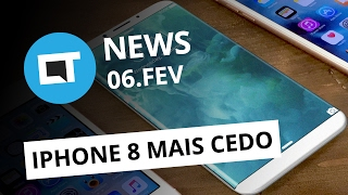 Adiantamento do iPhone 8, carros voadores da Uber, Redmi Note 4X e + [CTNews]
