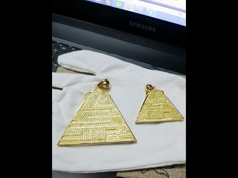 Custom Lab Made Jewelry 2.5 Inch And 1.5 inch mini pendant created by MixtapeCoverKing.com