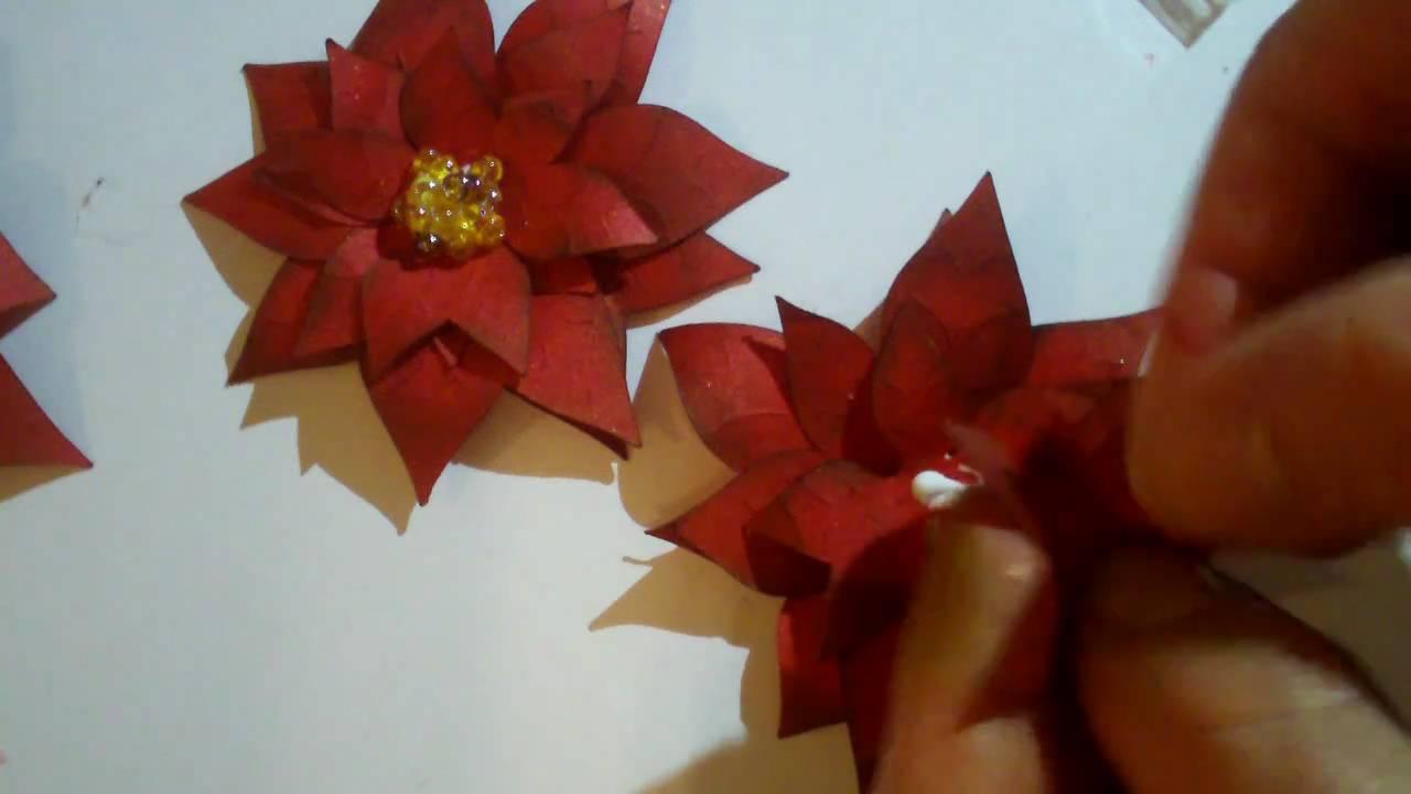 Poinsettia Paper Flower From Cricut Joys Of The Season Youtube