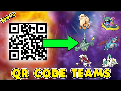 How To Scan and Share Qr Rental Teams In Pokemon Sun and Moon