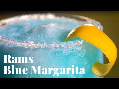 This LOS ANGELES RAMS-Inspired BLUE MARGARITA Is Super Bowl Party Perfection