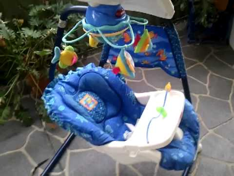 Baby Swing Chair Youtube Hanging Vancouver Fisher Price Sea Aquarium