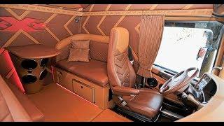 Настоящий американский грузовик внутри. ОБЗОР KENWORTH T2000  | 1 я серия | КАБИНА И САЛОН