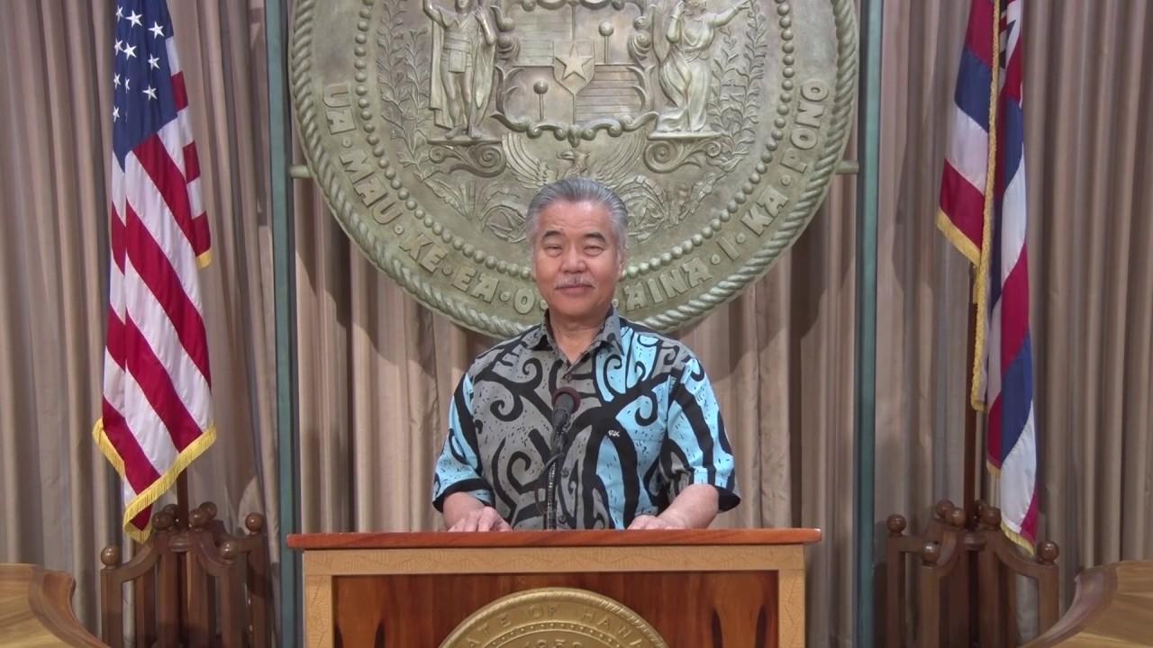 ハワイ州知事からのメッセージ