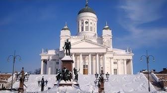 Winter Helsinki & Christmas Helsinki in Finland - tourism Helsingin joulu & talvi Suomi Joulupukki