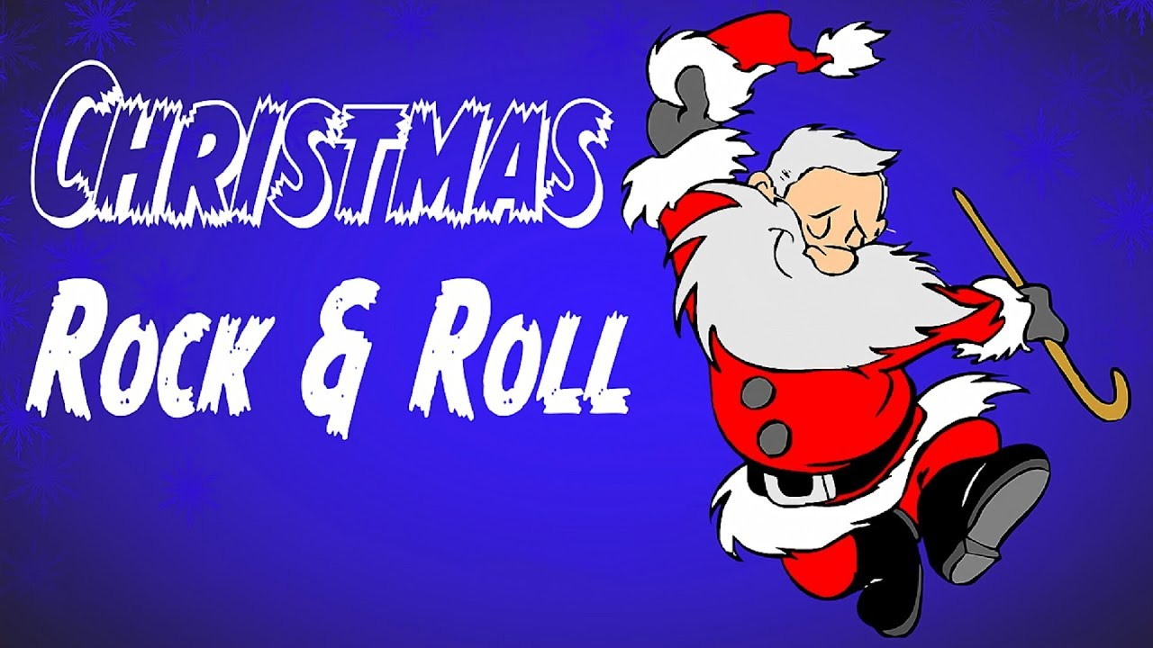 Rock roll christmas music merry