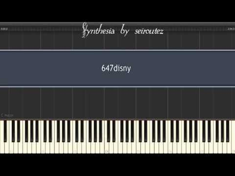 [Synthesia][MIDI] 647disny~I Just Can't Wait to Be King~The lion king