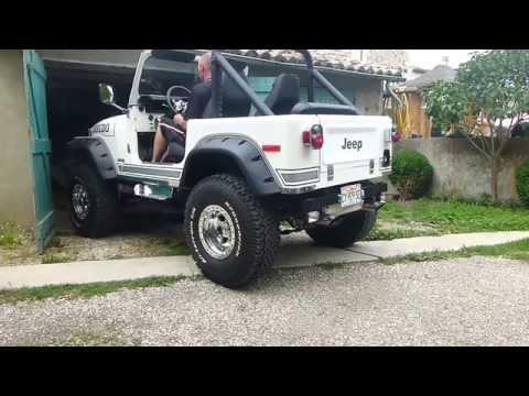 Jeep CJ7 V8 Chevy  flowmaster 40 series inox