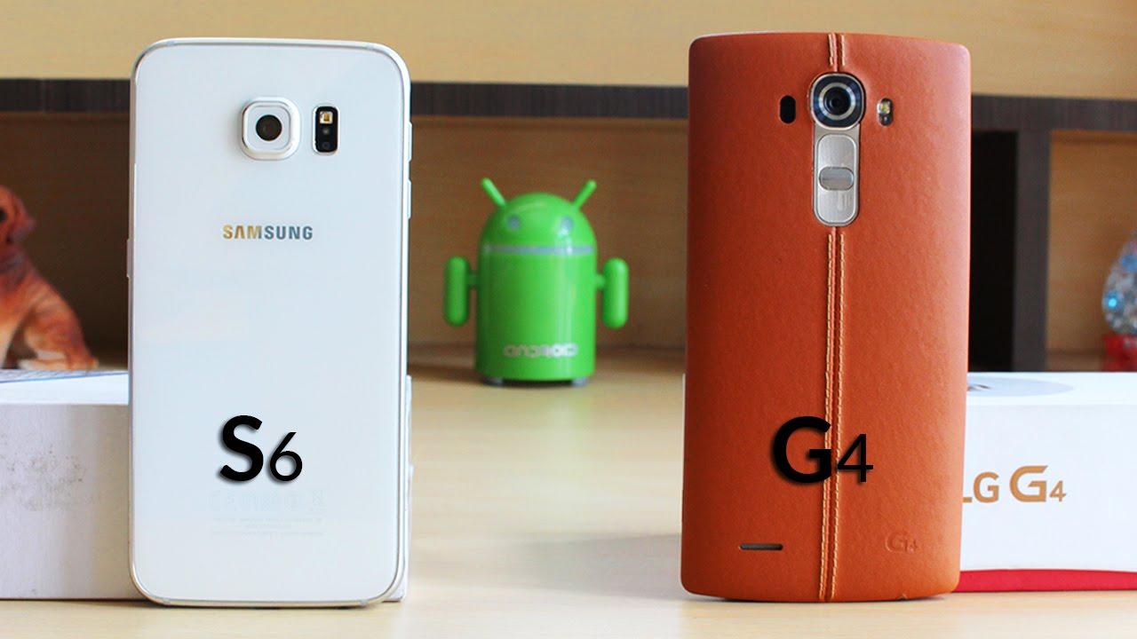 91ef8ad4a453fe LG G4 vs Samsung Galaxy S6 Speed Test (4K) - YouTube
