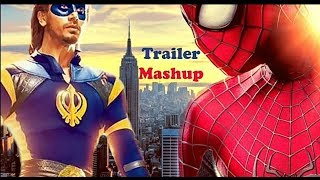 A Flying Jatt _ The Amazing Spider-man _ Official Trailer Mashup