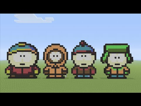 Lets Build South Park Pixel Art Minecraft Youtube