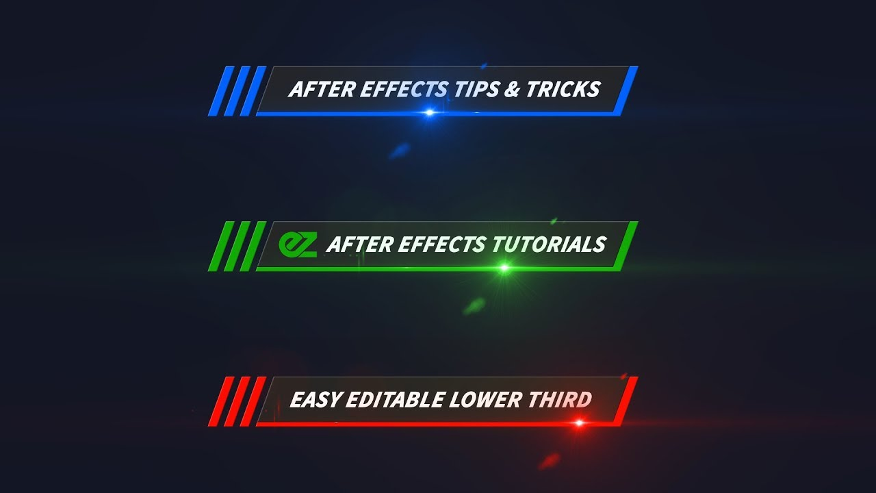 How To Create A Color Line Lower Third After Effects Tutorial