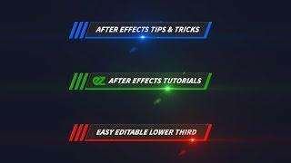 So Erstellen Sie Eine Farbe, Linie, Im Unteren Drittel, After Effects Tutorials & Vorlage