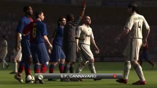 Pes 2009 - GamePlay - Barcelona vs Real Madrid