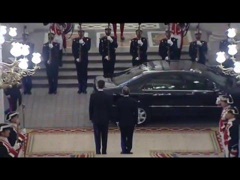 Llegada al Palacio Real de Madrid de Marcelo Rebelo de Sousa y encuentro con Su Majestad el Rey