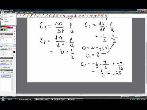 Price Elasticity Of Demand Calculus Youtube
