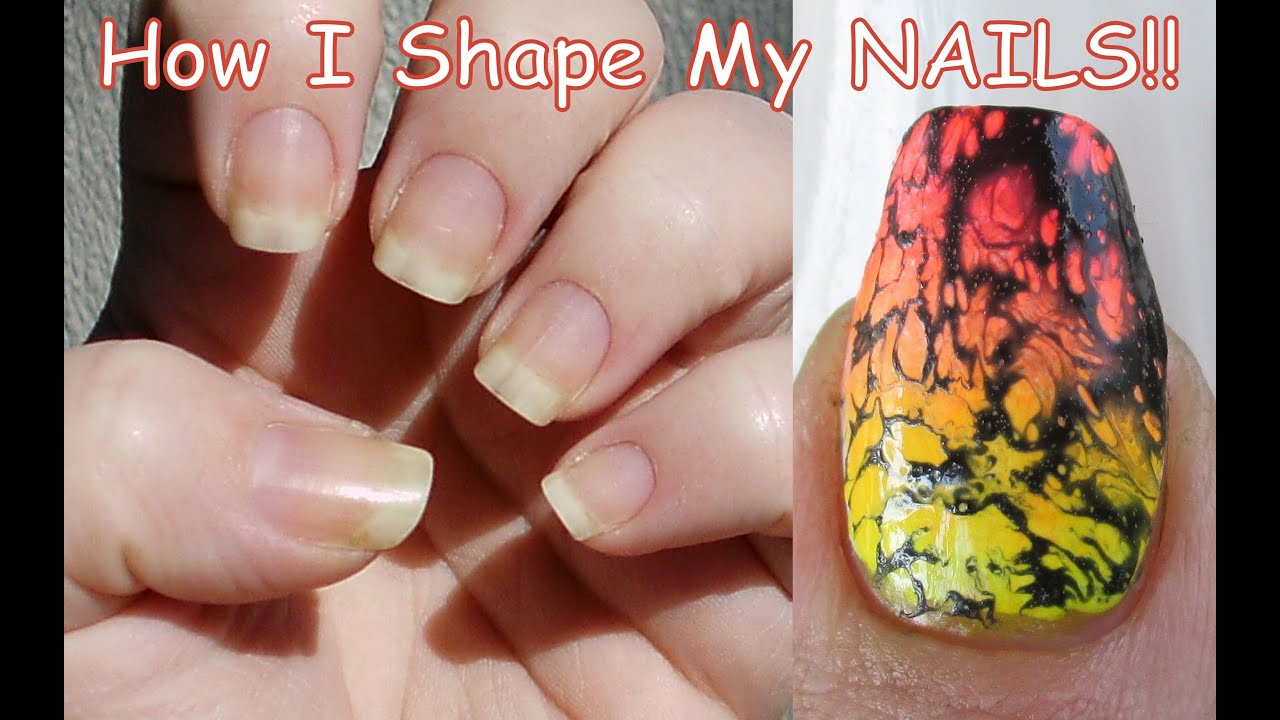 How I Shape My NAILS!! ((SQUOVAL)) - YouTube