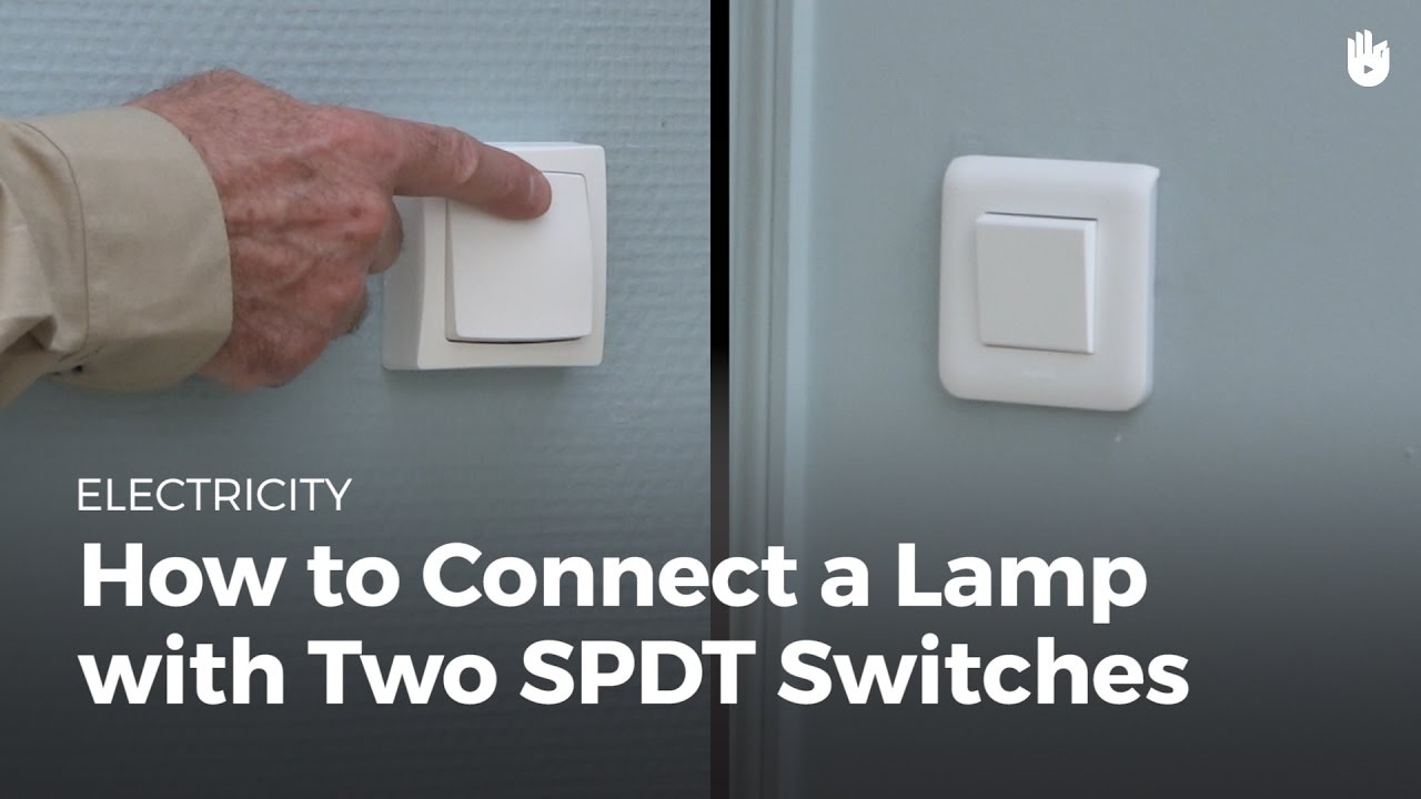 How To Connect A Light With Two Switches Electricity Youtube 2 Gang Switch Wiring Diagram