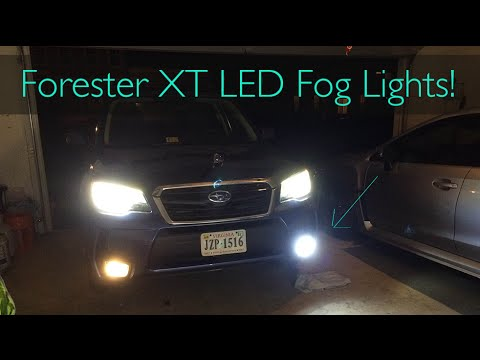 2017 Subaru Forester Xt Led Fog Light Install And Review Subieled