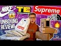 "HUGE HYPE BRANDS UNBOXING AND REVIEW! | SUPREME, NIKESB ""ORANGE LABEL"", THE NORTH FACE, SPRING TEES"