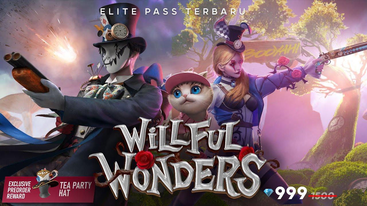 Pre-Order sekarang, Elite Pass terbaru Willfull Wonders!