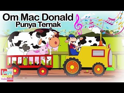 Om Mac Donald Punya Ternak ( Old Mac Donald Had A Farm )  | Lagu Anak Indonesia