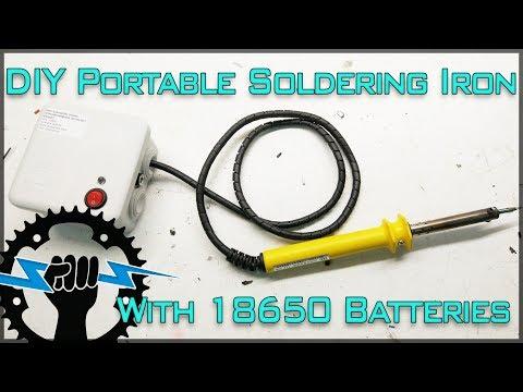 DIY Portable Soldering Iron 12V Lithium Battery Powered.!!!
