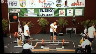 Kenny Johnson Sub-Junior world powerlifting championships  2014, Oroshaza, Hungary.  53 kg