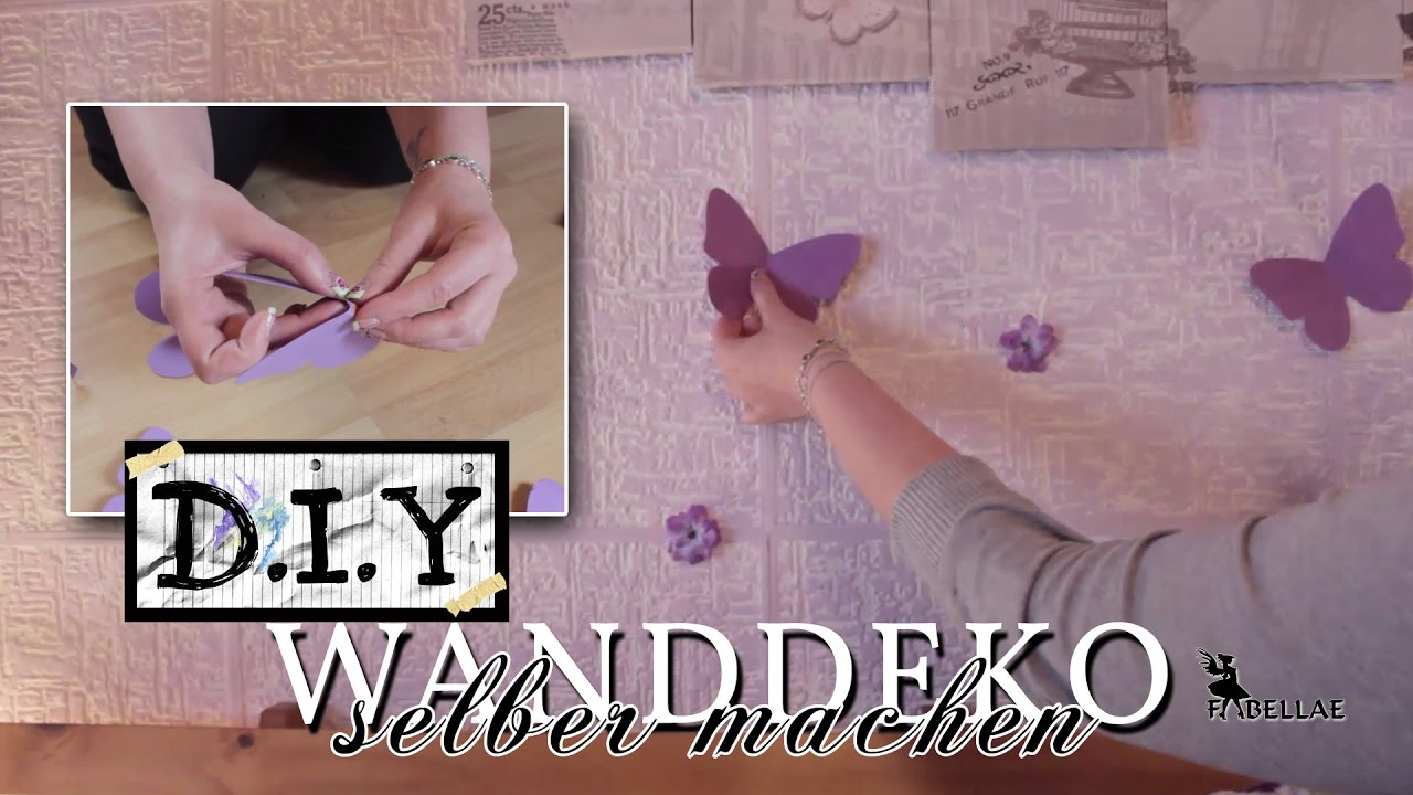 wanddeko selber machen aus papier diy idee youtube. Black Bedroom Furniture Sets. Home Design Ideas