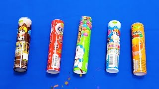 Opening CoLa shake, Popit, Orange shake and Chocolate Milk Candy | Learn Colors for Kids