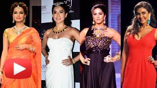 Sunny Leone, Dia Mirza, Gauhar Khan, Lisa Ray Ramp Walk | IIJW 2014