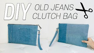 EASY DIY Old Jeans Clutch Bag …