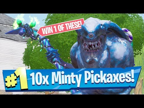 10x Minty Pickaxe Code Giveaway! - Fortnite Battle Royale