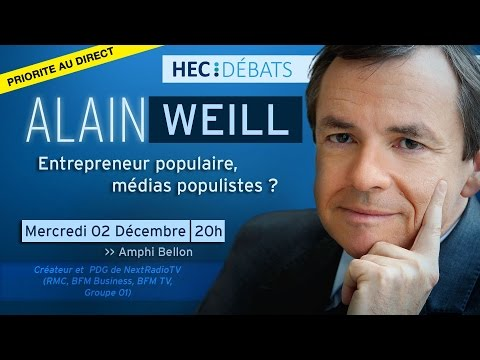 HEC Débats reçoit Alain Weill - Conférence