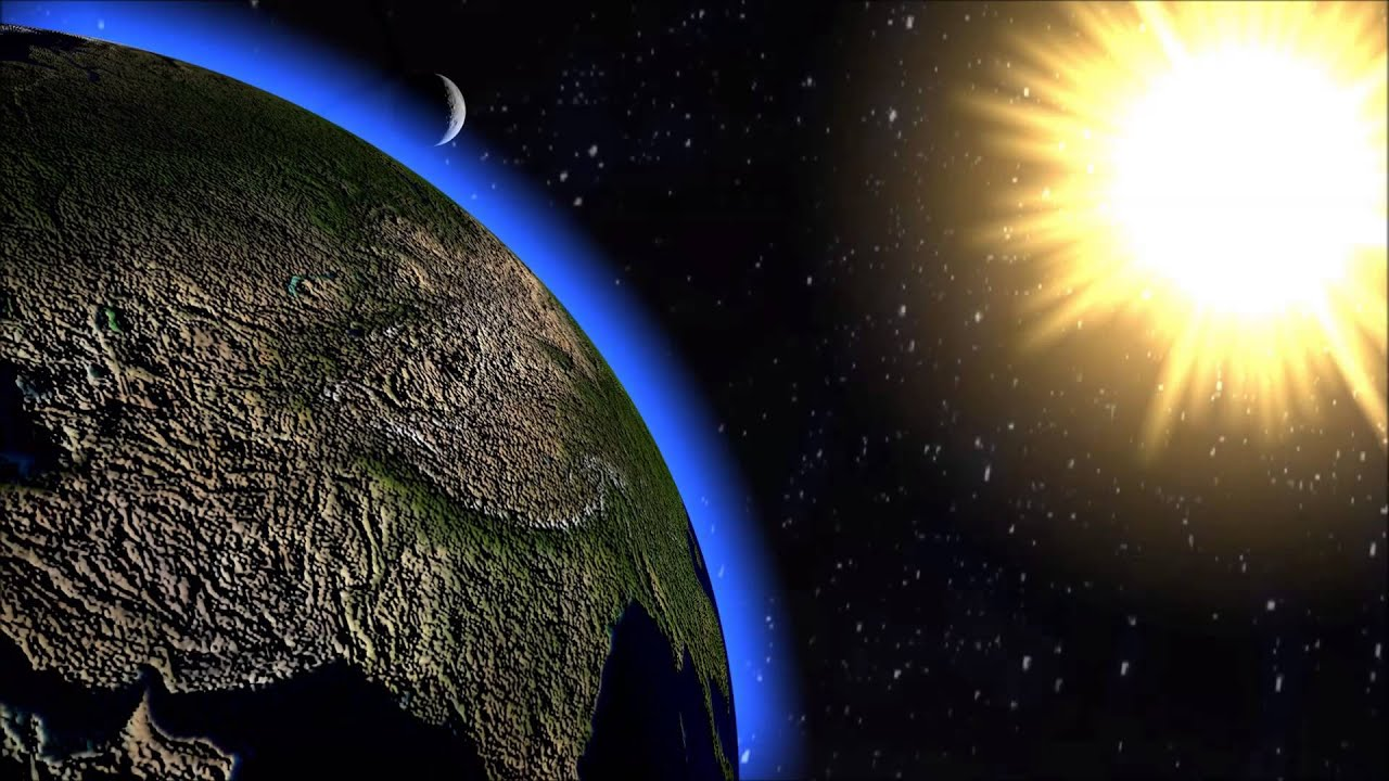 3d Animations Wallpapers Gif Solar System Animation 3d Animation Earth Moon And Sun