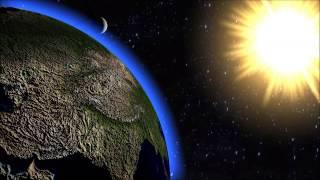solar system animation! 3D animation earth moon and sun
