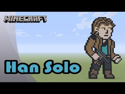 Minecraft: Pixel Art Tutorial and Showcase: Han Solo (Solo: A Star Wars Story)