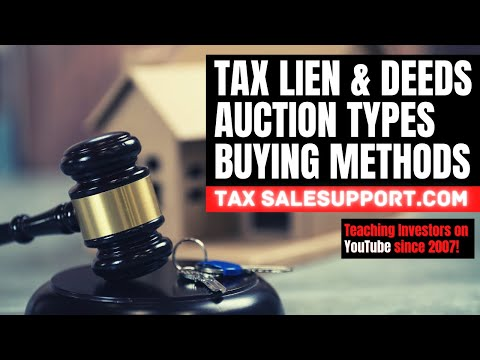 Tax Lien Workshop (Investing Methods, Buying Types & Auction Tutorial) Tax Deeds