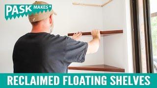 Reclaimed Floating Corner Shelves